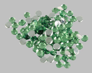 Strass cont. 100 pcs  – green