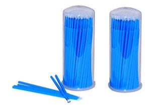 Lot de 100 microbrushes jetables pour extensions de cils